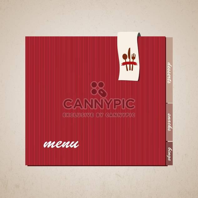 Restaurant-Menü-Design-Hintergrund - Kostenloses vector #133228
