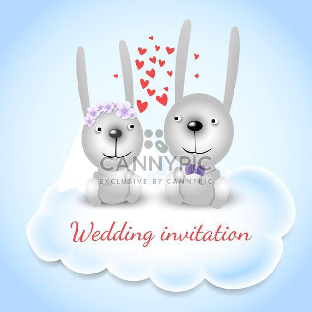 Hochzeit Einladung Karte Hintergrund - Kostenloses vector #133278