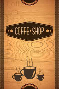 coffee shop label background - vector gratuit #133308