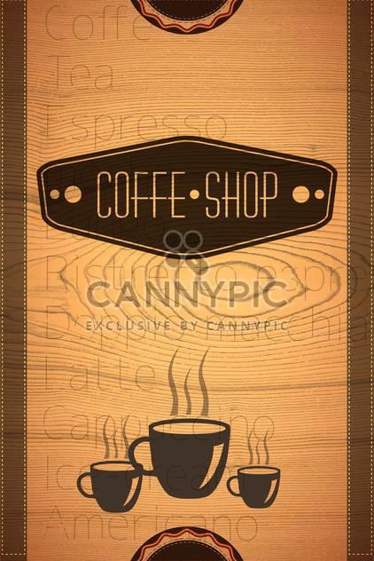 Coffee-Shop-Etikett-Hintergrund - Free vector #133308