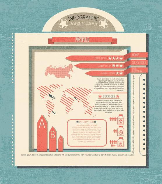 business retro infographics set - Free vector #133328