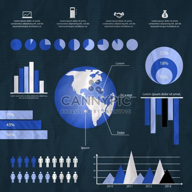 business retro infographics set - Free vector #133348