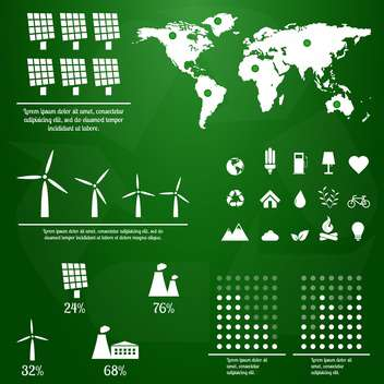 ecology infographics with elements and icons - vector #133368 gratis