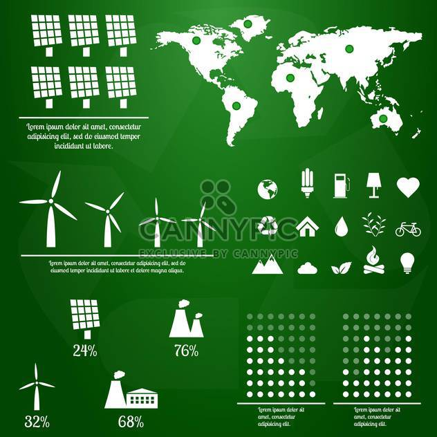 ecology infographics with elements and icons - Free vector #133368