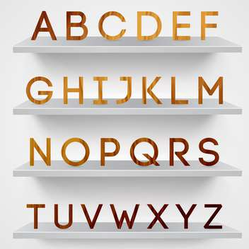 wooden font alphabet letters background - vector gratuit(e) #133418