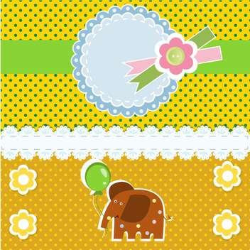 vector background with elephant animal - vector gratuit #133438