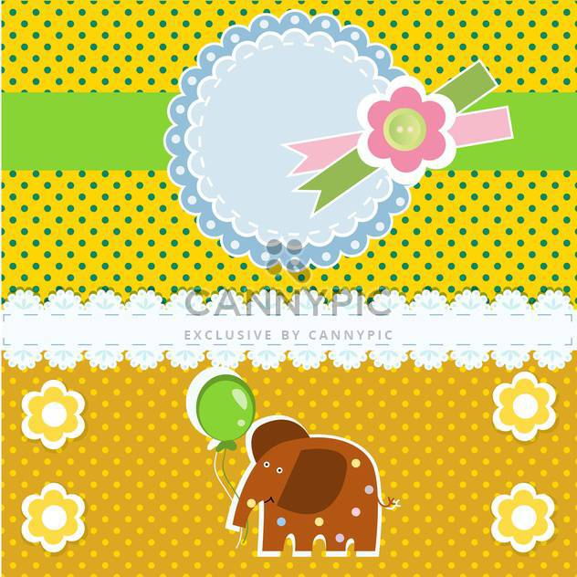 vector background with elephant animal - Free vector #133438