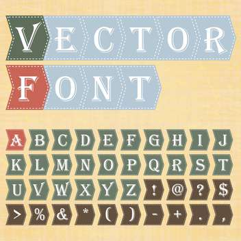 vector education alphabet letters set - vector #133478 gratis
