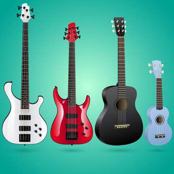 set of vector guitars illustration - Free vector #133488