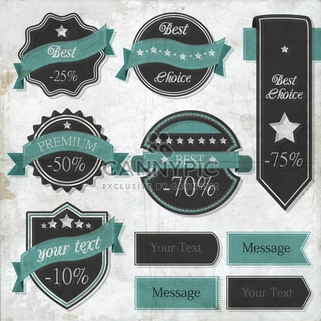vector set of retro labels - Free vector #133498
