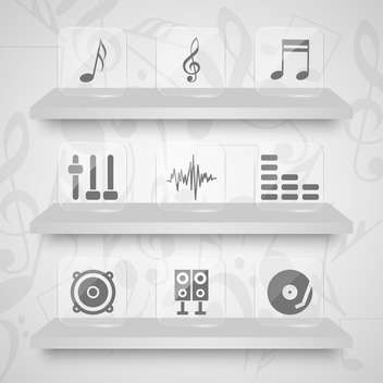 vector set of sound web icons - vector gratuit #133508