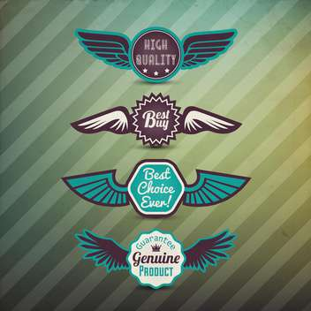 vector set of best choice labels - Free vector #133548