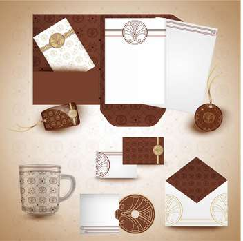 vector office stationery design set - vector #133568 gratis