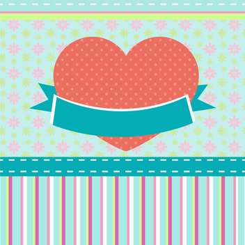 vector background retro heart - vector #133628 gratis