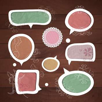 speech bubbles vector set - vector #133638 gratis