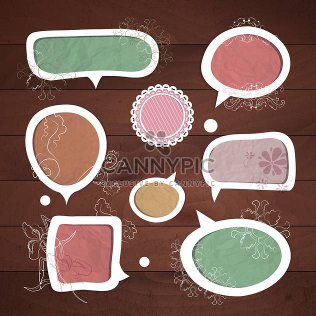 speech bubbles vector set - Free vector #133638