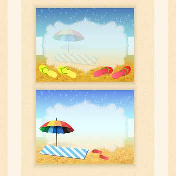 summer holidays vector background - vector #133738 gratis