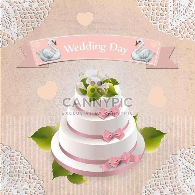Hochzeit Tag Urlaub Kuchen Hintergrund - Free vector #133808