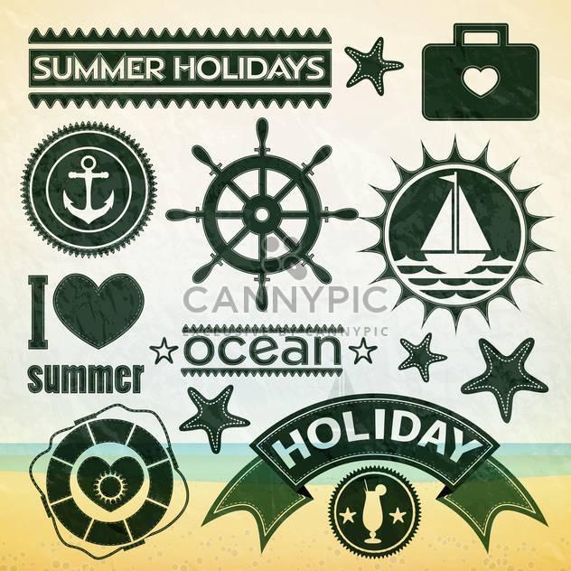 Sommerurlaub-set-Symbole - Free vector #133858