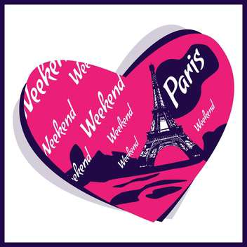 love in paris city background - бесплатный vector #133878