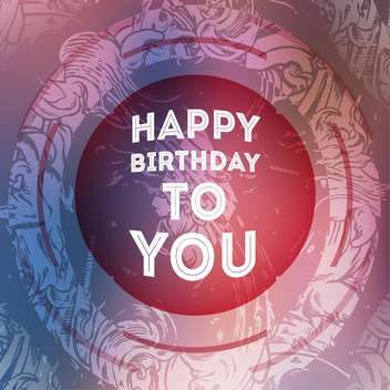 vintage birthday card background - vector gratuit #133908
