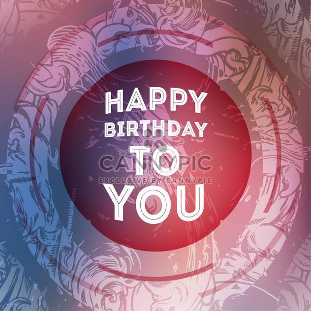 vintage birthday card background - Free vector #133908