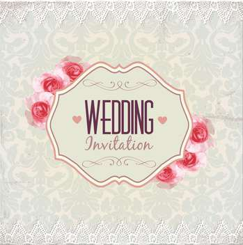 wedding invitation card background - Free vector #133928