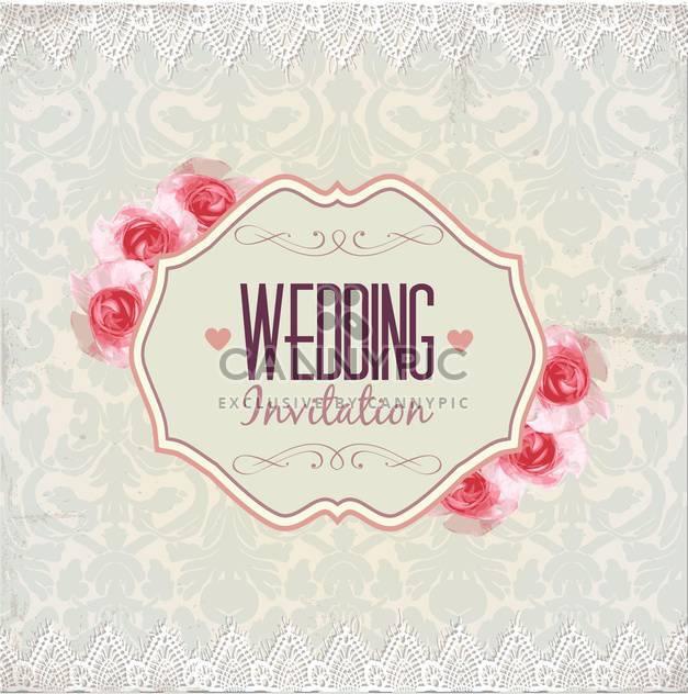 Hochzeit Einladung Karte Hintergrund - Kostenloses vector #133928