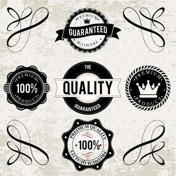 collection of high quality labels - vector gratuit #133938