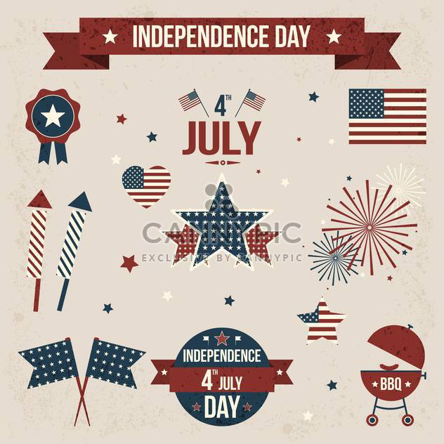 vector independence day badges - Free vector #134028
