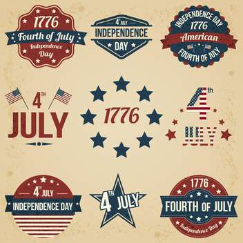 vector independence day badges - vector gratuit #134038