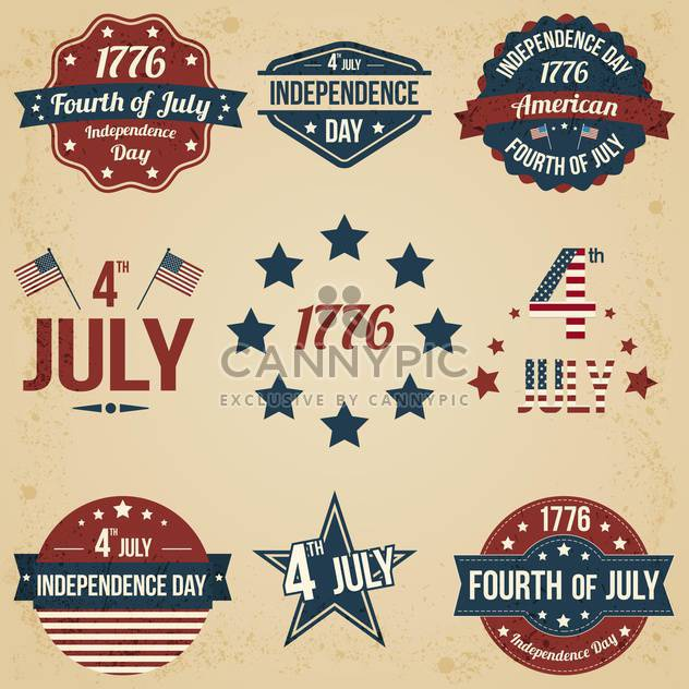 vector independence day badges - Free vector #134038