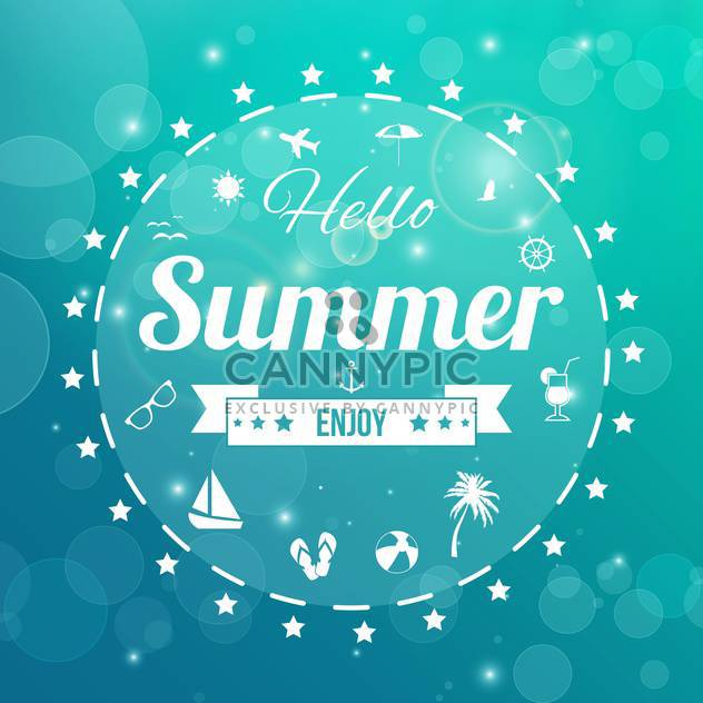 retro summertime vintage background - Free vector #134048