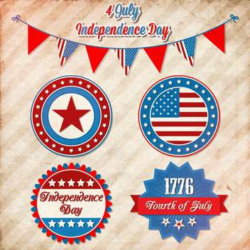 vector independence day badges - vector gratuit #134058
