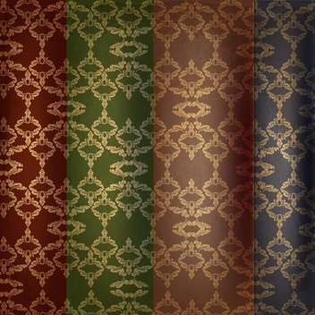 vector set of vintage background. - vector #134068 gratis