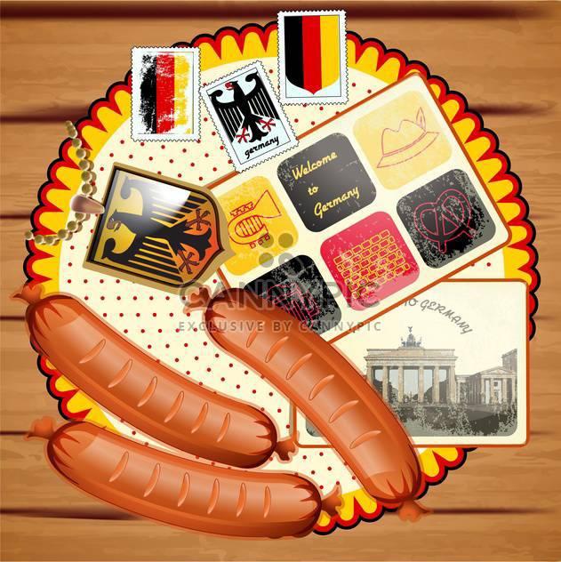 vintage german postcard background - Free vector #134078
