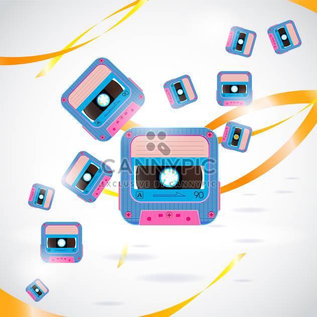 Vektor-Hintergrund mit Jahrgang Ton-Kassetten - Free vector #134138