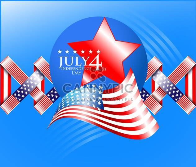usa independence day illustration - Free vector #134148