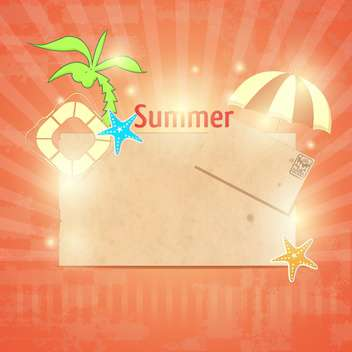 vintage summer postcard background - vector gratuit #134168
