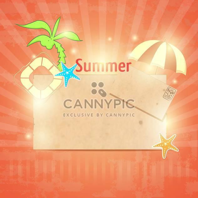 Jahrgang-Sommer-Postkarte-Hintergrund - Kostenloses vector #134168