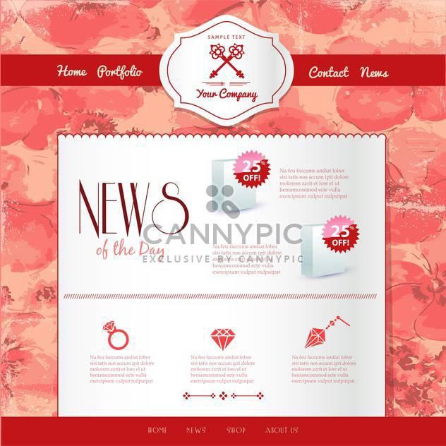 Webseite Vorlagen Internet Hintergrund - Free vector #134188