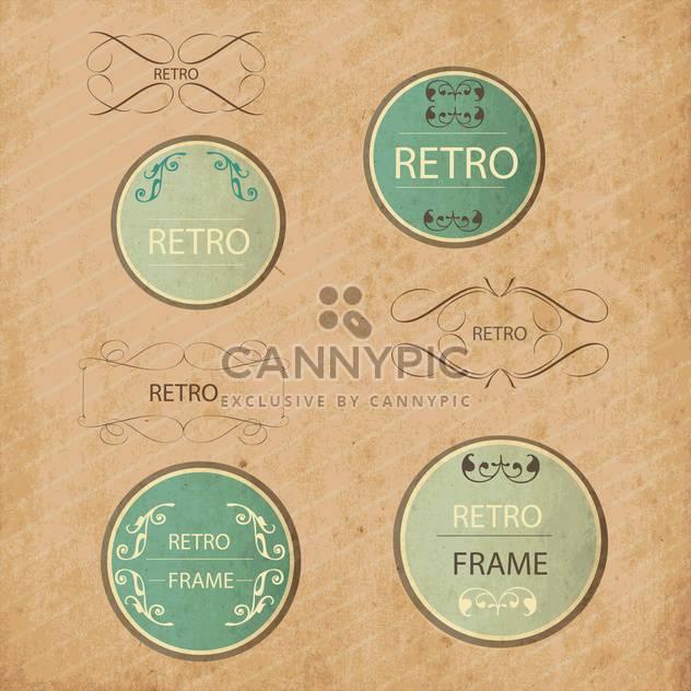Vintage-Design-Elemente festlegen - Kostenloses vector #134208