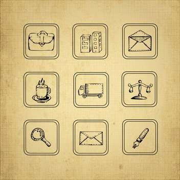 vintage design elements set - Free vector #134218