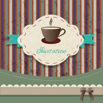 tea party vintage invitation card - vector gratuit #134238
