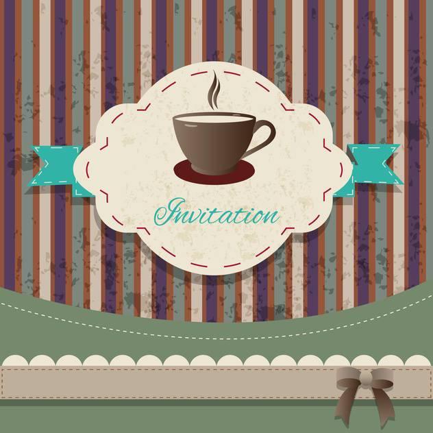 tea party vintage invitation card - vector #134238 gratis