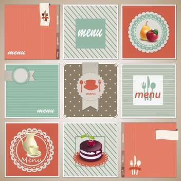 vintage menu food background - Free vector #134248