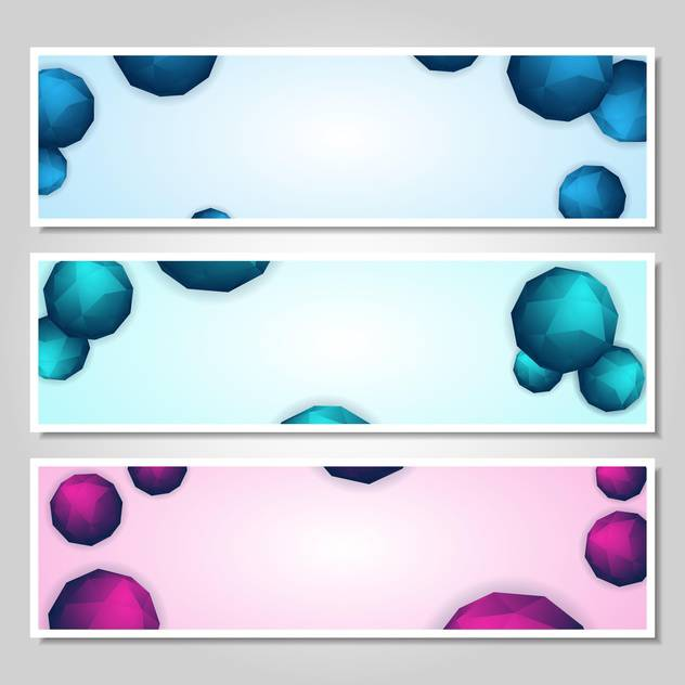 vector set of abstract banners - бесплатный vector #134258