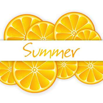 summer background with ripe oranges - vector gratuit #134268