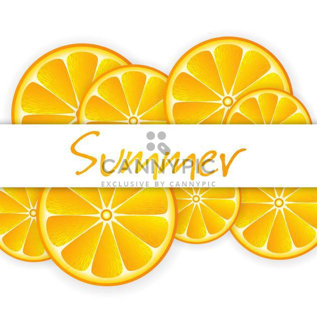 summer background with ripe oranges - Free vector #134268