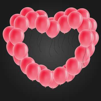 heart shaped balloon vector image - vector gratuit(e) #134278
